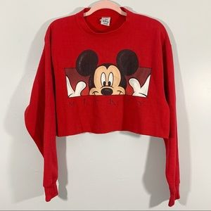 Vintage | Disney | Mickey Mouse Cropped Sweatshirt